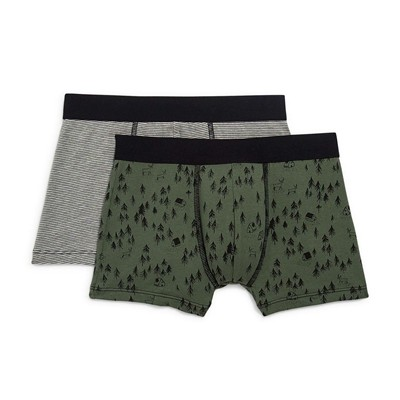 MONOPRIX KIDS Lot de 2 boxers - army