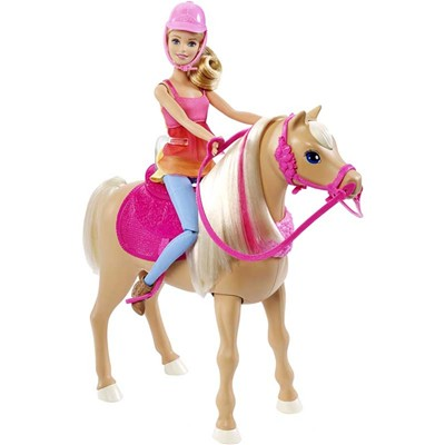 MATTEL Barbie et son cheval - multicolore