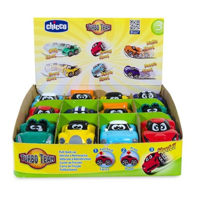 CHICCO Turbo touch Stunt - Lot de 6 mini véhicules - multicolore