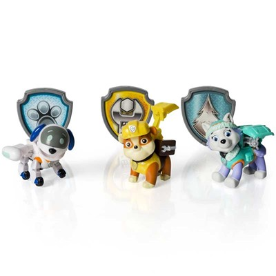 SPIN MASTER 3 figurines Paw Patrol - multicolore