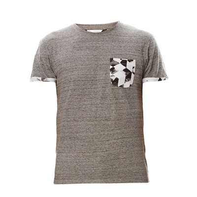 ELEVEN PARIS Pogrobis - T-shirt manches courtes - gris chine