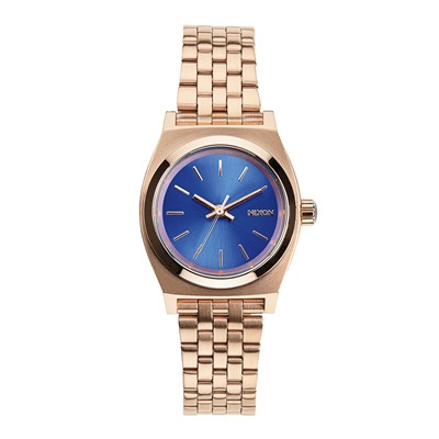 Small time teller - Style casual - Or rose /  Bleu saphir