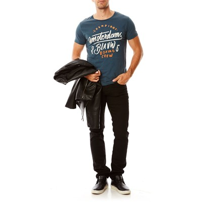 SCOTCH & SODA T-shirt en coton - bleu
