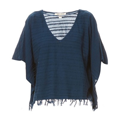 Weekend Escape - Top style poncho - bleu