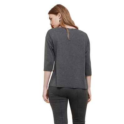 VIOLETA BY MANGO Top - gris