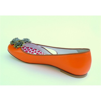 HEP'Y PARIS Ynterlude Gogh - Ballerines en cuir - orange