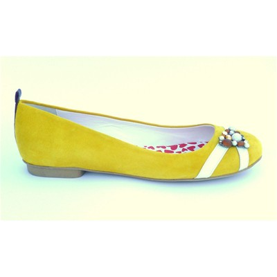 HEP'Y PARIS New Day Girl Secret - Ballerines en cuir - jaune
