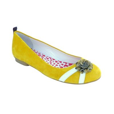 HEP'Y PARIS New Day Girl Amaratine - Ballerines en cuir - jaune