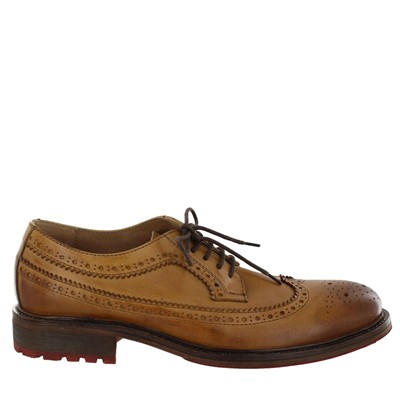 Derbies en cuir - caramel