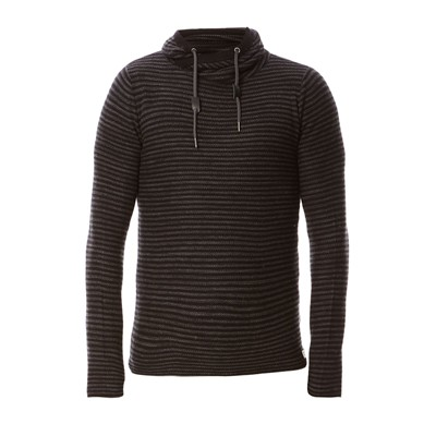EDC BY ESPRIT Sweat-shirt en coton - noir