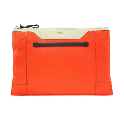 Fantasia - Pochette en cuir - orange