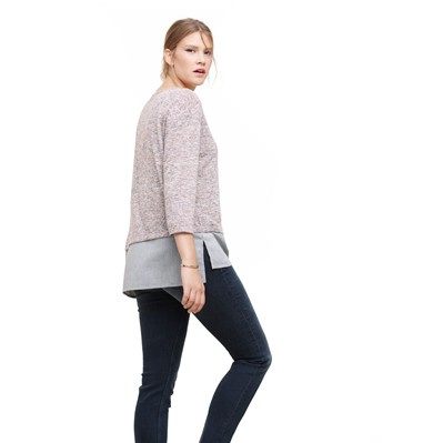 VIOLETA BY MANGO Top - bicolore