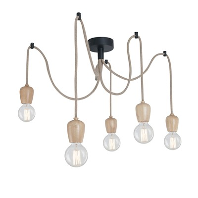 Industrial Lights suspension - naturel