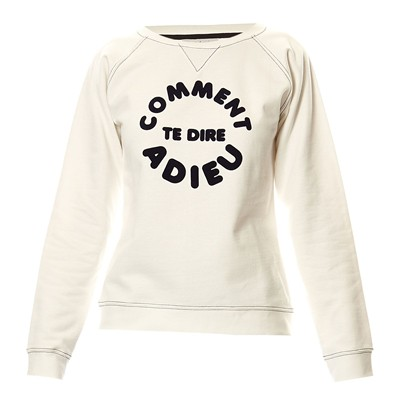 Adieu - Sweat-shirt en coton - blanc