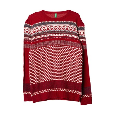 BENETTON Pull - rouge