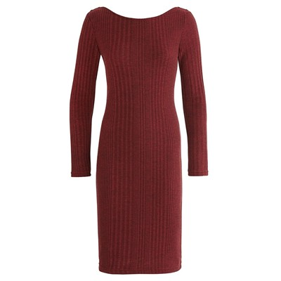 Robe pull - bordeaux