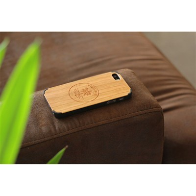 WOODSTACHE Coque pour iPhone 5-5S et SE Crush - marron clair