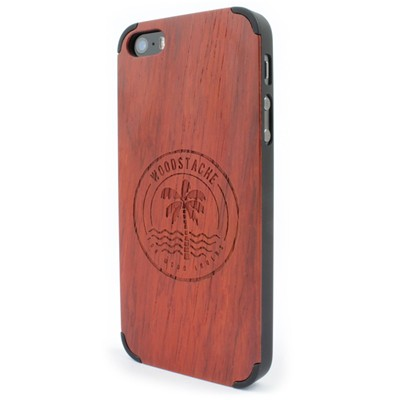 WOODSTACHE Coque pour iPhone 5-5S et SE Crush - rouge