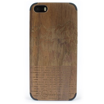 WOODSTACHE Coque pour iPhone 5-5S et SE Mammoth - marron