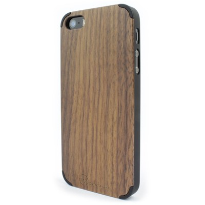 WOODSTACHE Coque pour iPhone 5-5S et SE Wood - marron