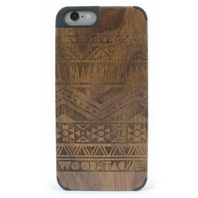 WOODSTACHE Coque pour iPhone 6-6S Navajo - marron