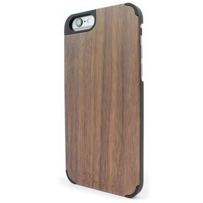WOODSTACHE Coque pour iPhone 6 et 6S - marron