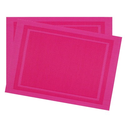 BECQUET Lot de 2 sets de table - fuchsia