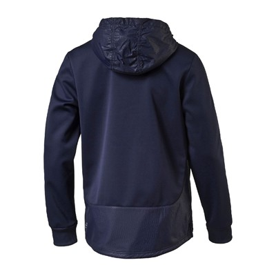 PUMA Evo Embossed Savannah - Sweat à capuche - bleu marine