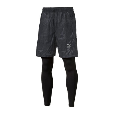 PUMA Evo Embossed Layered - Short - noir
