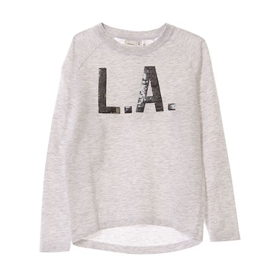 NAME IT Sweat-shirt - gris clair