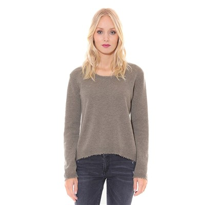 Disha - Pull en cachemire - taupe