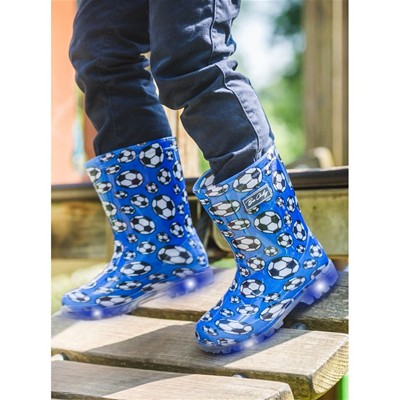 BE ONLY Flash Football - Bottes LED - bleu