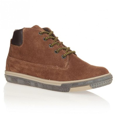 Bottines en cuir - camel