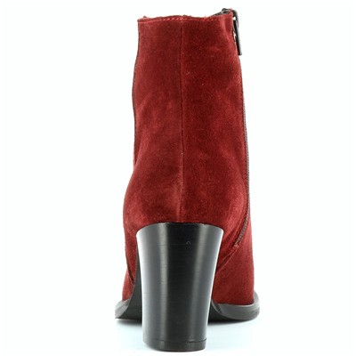 Bottines en daim - rouge