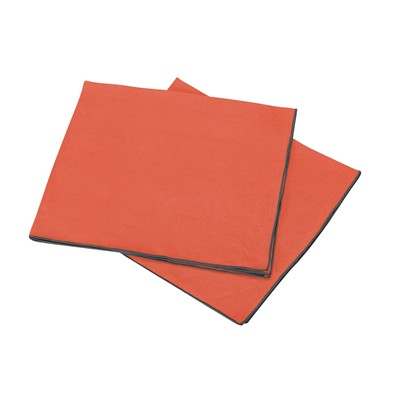 Blanc Cerise autour du lin - lot de 2 serviettes de table en lin - brique
