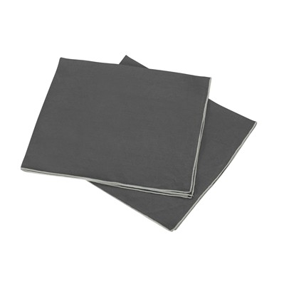 BLANC CERISE Lot de 2 serviettes de table en lin - anthracite