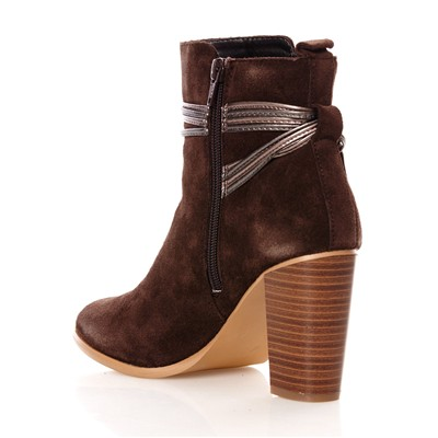 Ares - Bottines en cuir suédé - marron