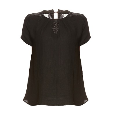 Chantilly - T-shirt - noir