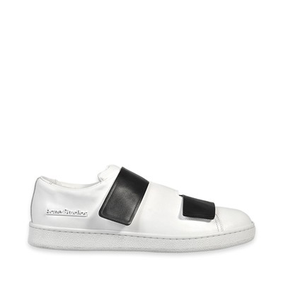 Acne Studios triple - baskets en cuir - blanc