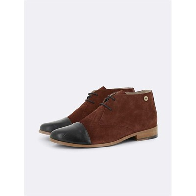 FAGUO Silk - Derbies montantes en daim - marron