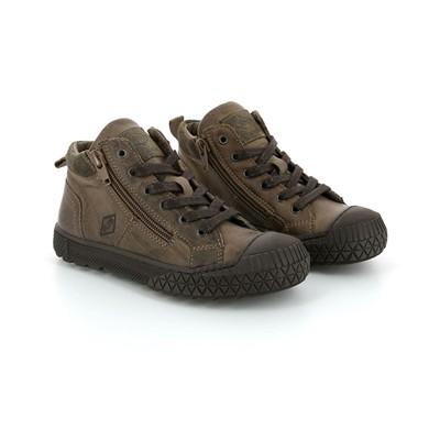 PLDM BY PALLADIUM Taco - Baskets montantes en cuir - marron