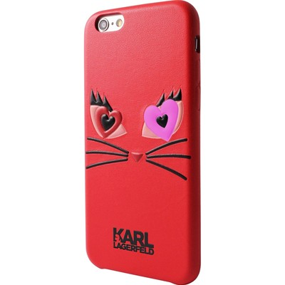 Karl Lagerfeld Choupette - Coque iPhone 6/6S - rouge