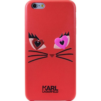 Karl Lagerfeld Choupette - Coque pour iPhone 6+/6S - rouge