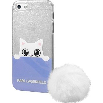 THE KASE Karl Lagerfeld K-Peek A Boo - Coque pour iPhone 5/5S/SE - blanc
