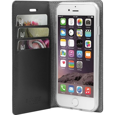 THE KASE Housse clapet en cuir pour iPhone 7 - or