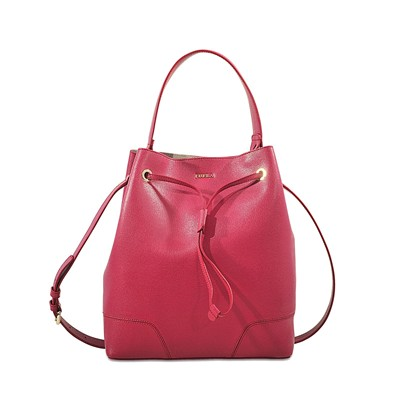 Stacy M Drawstring - Sac à main en cuir et pochette - rouge