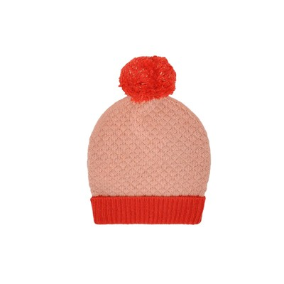 Bonnet en laine - rose