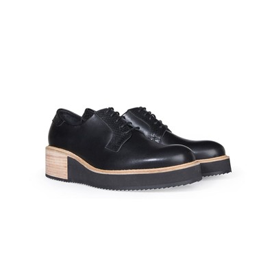 Alpha - Derbies en cuir - noir