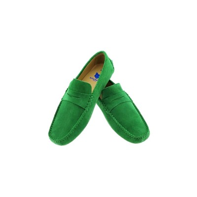 THE WEEKENDERS Mocassins en cuir - vert