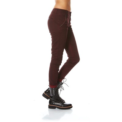 Pantalon chino - bordeaux